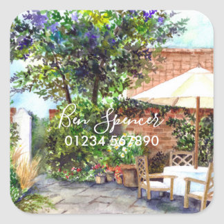 Terrace of The Manor House, York Square Sticker