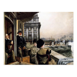 Terrace of the Trafalgar Tavern by James Tissot Postcard