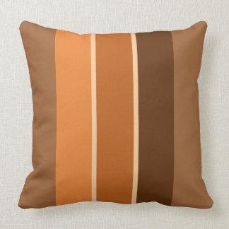 """Terracotta 3 Stripe 20"""" Square Throw Pillow"""