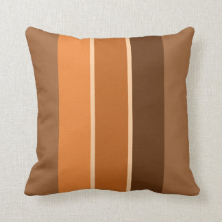 Terracotta 3 Stripe With Highlights, Throw Pillow