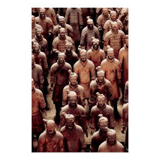 Terracotta army warriors - China - Qin dynasty Poster