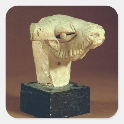 Terracotta camel head, Mohenjodaro, 2300-1750 BC Square Sticker