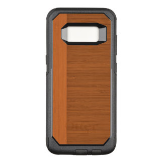 Terracotta Clay Bamboo Border Wood Grain Look OtterBox Commuter Samsung Galaxy S8 Case