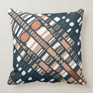 Terracotta Diagonal Layers Throw Pillow