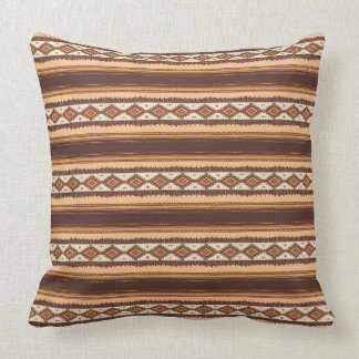 "Terracotta ethnic Cotton Throw Pillow 20"" x 20"""