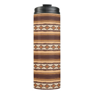 Terracotta ethnic pattern Thermal Tumbler