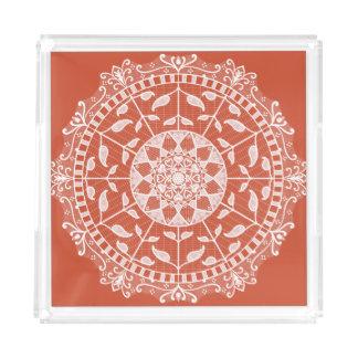 Terracotta Mandala Acrylic Tray
