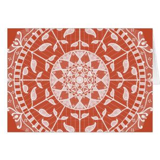 Terracotta Mandala Card