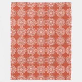 Terracotta Mandala Fleece Blanket