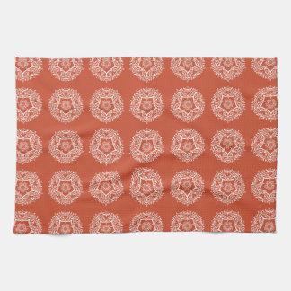 Terracotta Mandala Kitchen Towel