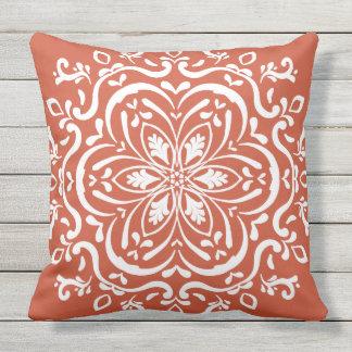 Terracotta Mandala Outdoor Pillow