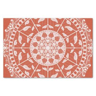 Terracotta Mandala Tissue Paper