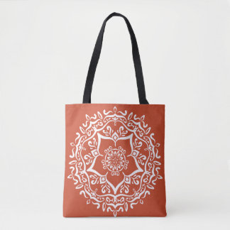 Terracotta Mandala Tote Bag