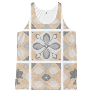 Terracotta Vintage Tiles Design All-Over-Print Tank Top