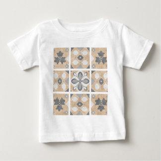 Terracotta Vintage Tiles Design Baby T-Shirt