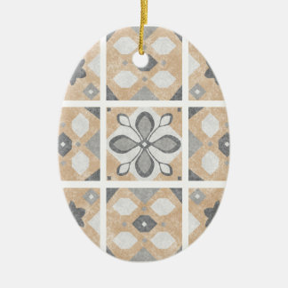 Terracotta Vintage Tiles Design Ceramic Ornament