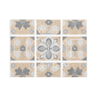 Terracotta Vintage Tiles Design Doormat
