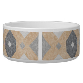 Terracotta Vintage Tiles Design Pet Water Bowl