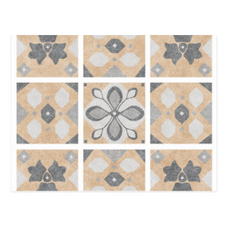 Terracotta Vintage Tiles Design Postcard
