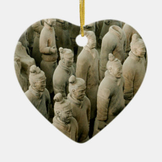 Terracotta Warriors Ceramic Heart Ornament
