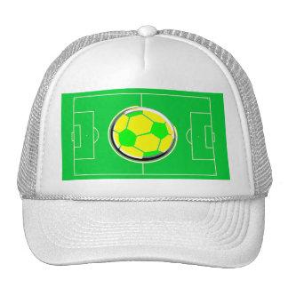 Terrain de football casquettes