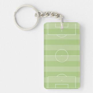 Terrain de football porte-clé rectangulaire en acrylique double face