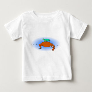 Terrapin floating on a fox baby T-Shirt