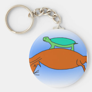 Terrapin floating on a fox keychain