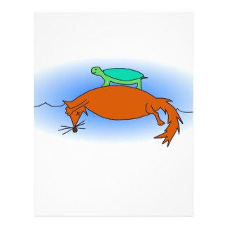 Terrapin floating on a fox letterhead