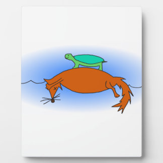 Terrapin floating on a fox plaque