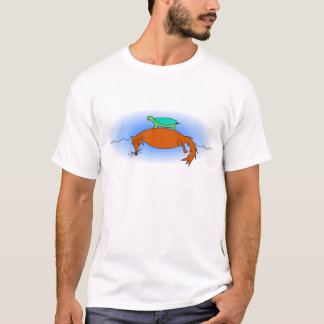 Terrapin floating on a fox t-shirt