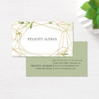 Terrarium | Geometric Botanical Business Card