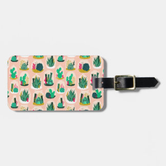 Terrarium Succulent Plant Cactus / Andrea Lauren Luggage Tag