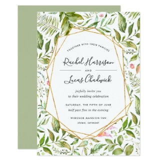Terrarium Wedding Invitation