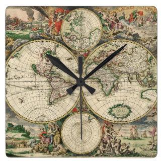 Terrarum Orbis Tabula Square Wall Clock