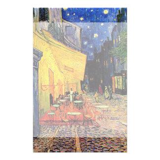 Terrasse de café de nuit de Van Gogh sur l'endroit Papier À Lettre Personnalisable