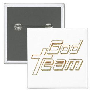 Terre 2 de l équipe 2 de Dieu Badges Avec Agrafe