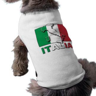 Terre de drapeau de l Italie Tee-shirts Pour Animaux Domestiques