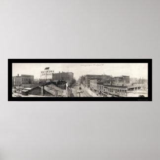 Terre Haute, IN Photo 1913 Poster