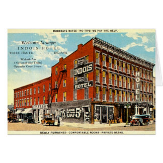 Terre Haute, Indiana Indois Hotel Card