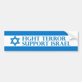 Terreur de combat, appui Israël Adhésif Pour Voiture