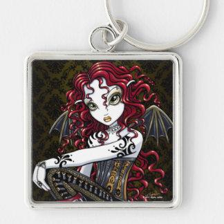"""Terri"" Gothic Red Rose Fairy Fantasy Keychain"