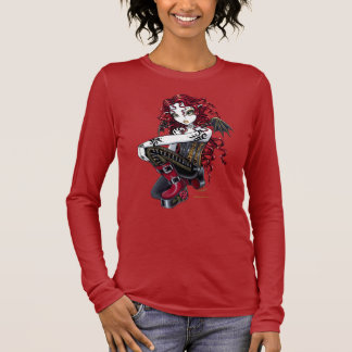"""Terri"" Gothic Red Rose Tattoo Fairy Art Top"