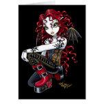 """""""Terri"""" Red Tattoo Faerie Card"""
