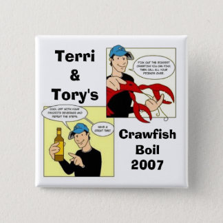 Terri&Tory's, CrawfishBoil2007 2 Inch Square Button
