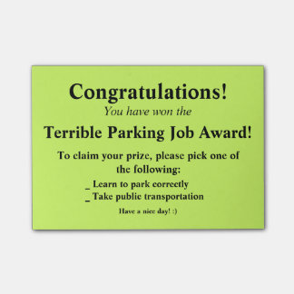 Terrible Parking Post-it Post-it Notes