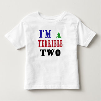 Terrible TWO! Toddler T-shirt