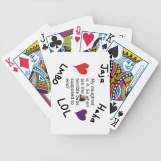 Terrible Twos Customizable Child Photo Design Bicycle Playing Cards