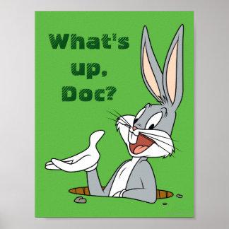 Terrier de lapin de ™ de BUGS BUNNY Poster