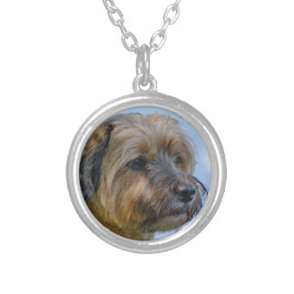 Terrier Design Silver Plated Necklace